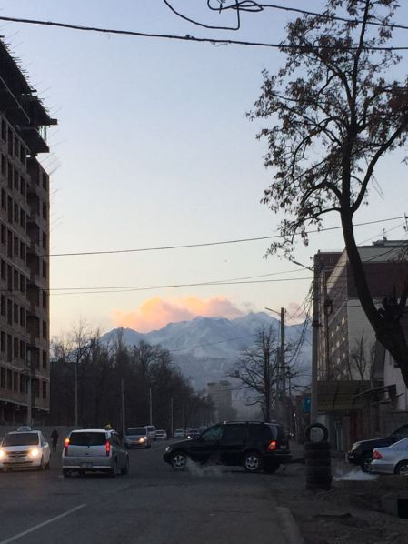 On the way to Bishkek