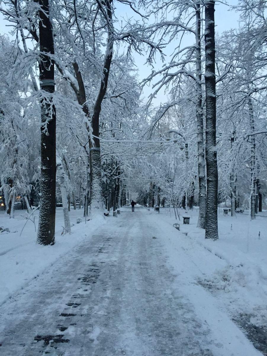 The road into Bishkek