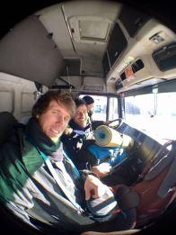 In the minibus