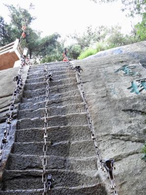 The near-vertical stairways