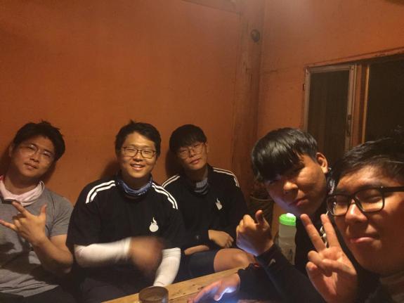 My Korean cycling buddies