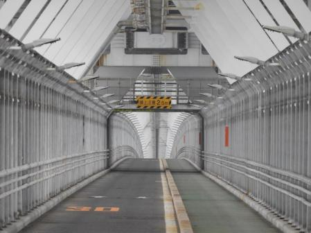 The 70km Shimanami Kaido toll road which connects Honshu to Shikoku and the smaller islands in between
