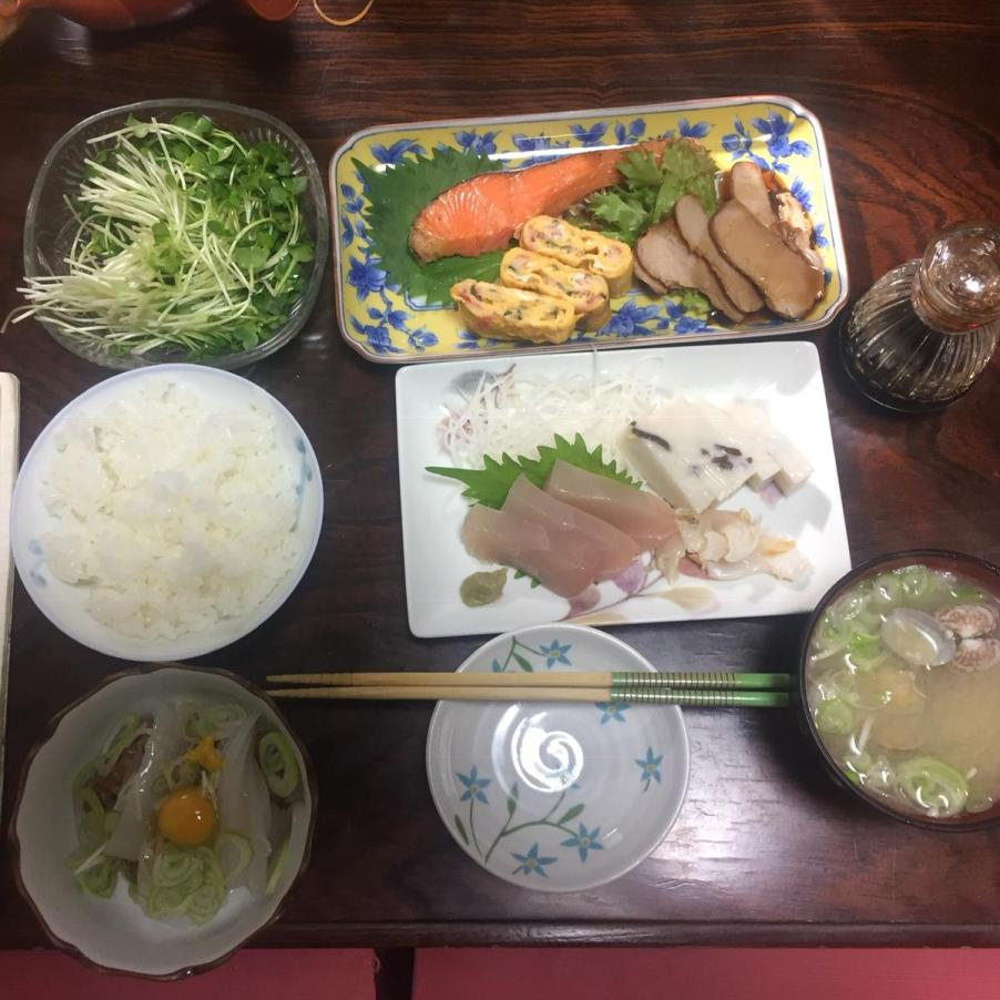Some of my meals from Sacchan, Nobu's Mum