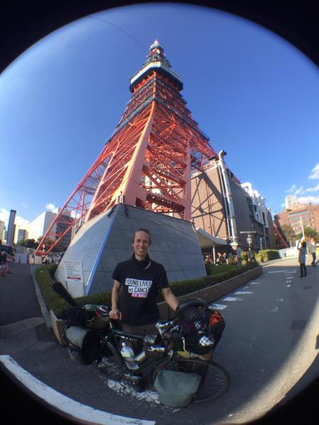 Standing next to Tokyo Tower